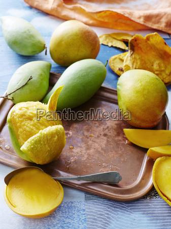 high angle view of fresh mango