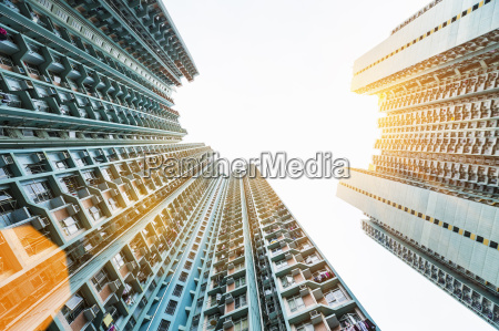 mongkok apartment buildings low angle view