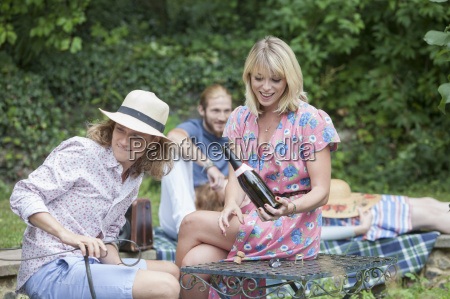 friends enjoying garden party