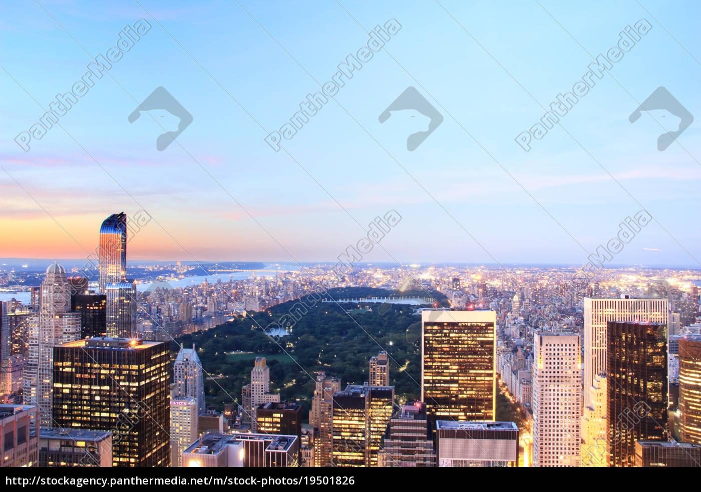 blick, auf, die, skyline, von, manhattan - 19501826