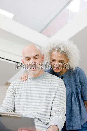 2 business people talking