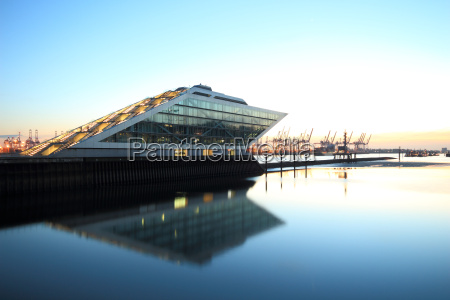 view of dockland office building on