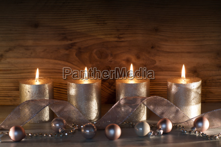 christmas decoration with four candles