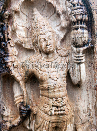 buddha statue in der antiken stadt