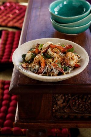 prawns with garlic stir fry with