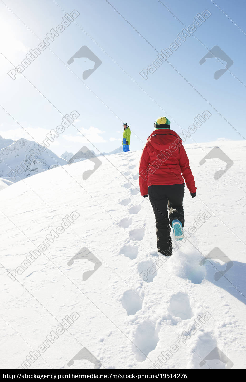 two, people, walking, in, snow, , kuhtai, - 19514276