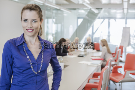 mid adult woman in office with