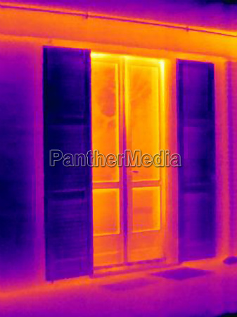 thermal image of doors