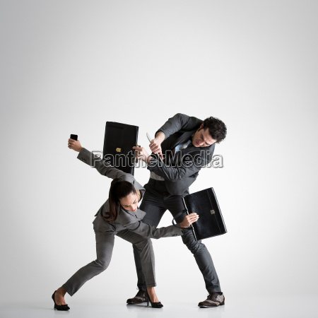 business couple fighting