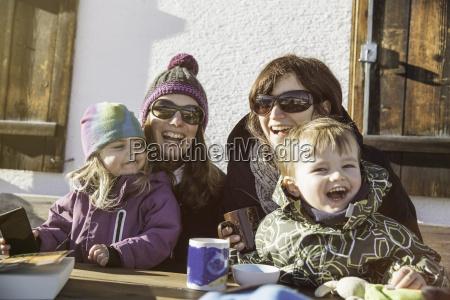 family on vacation achenkirch tirol austria