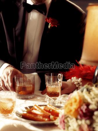 1920s style dinner scene