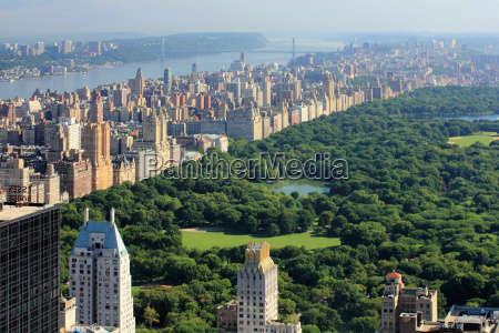 downtown manhattan and central park