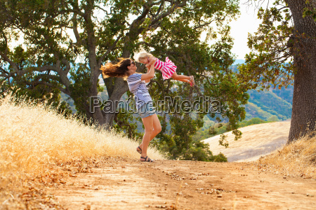 mother and daughter having fun mt