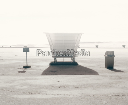 picnic bench with shelter white sands