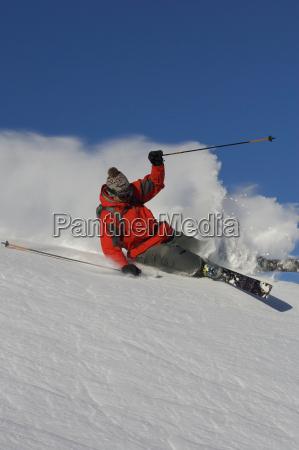 skier, turning, off, piste. - 19533346