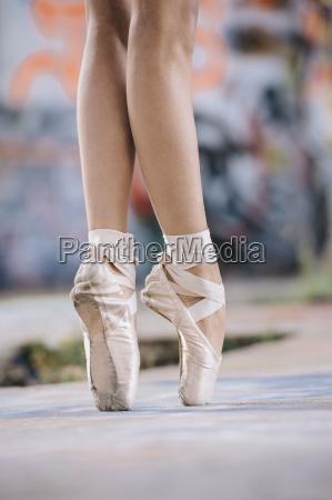 legs and feet of ballet dancing