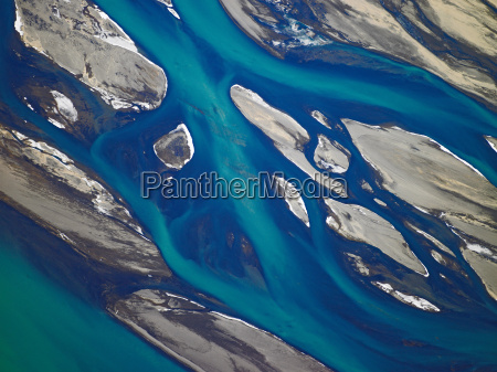 aerial view of thjorsa river south