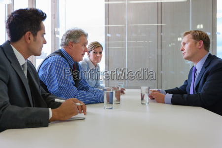 businessman in interview in office