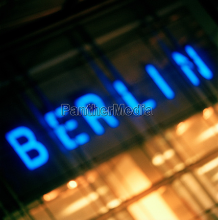 neon illuminated berlin sign berlin germany