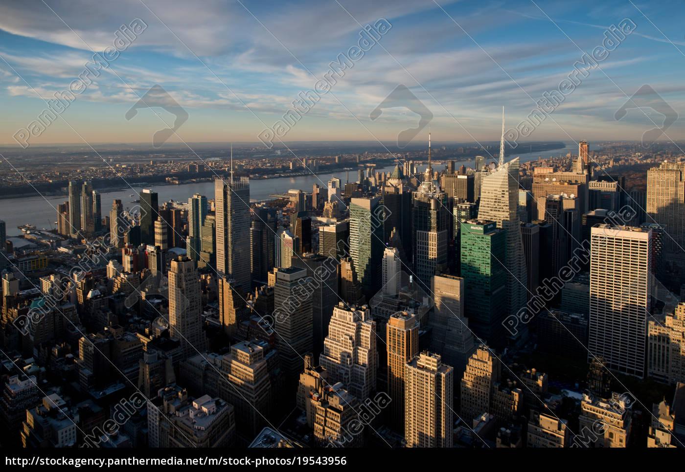 blick, auf, manhattan, new, york, city, usa - 19543956