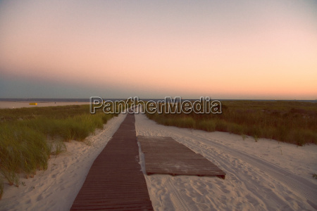 boardwalk on a beach long beach