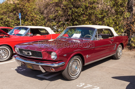 red 1966 ford mustang