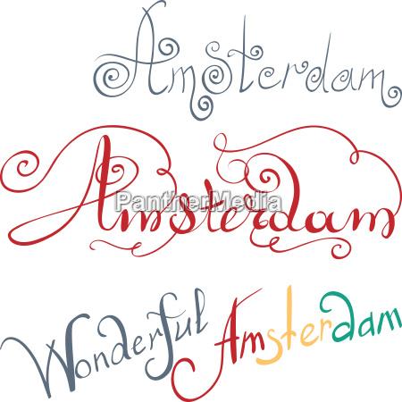 europa holland illustration niederlande amsterdam niederlaendisch
