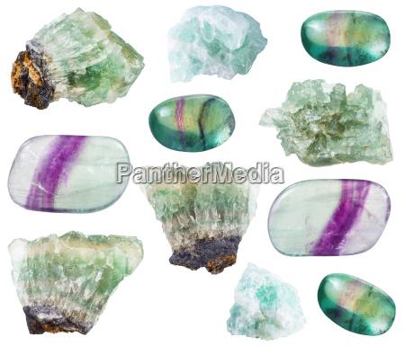 verschiedene fluorit kristalle steine u200bu200bund edelsteine