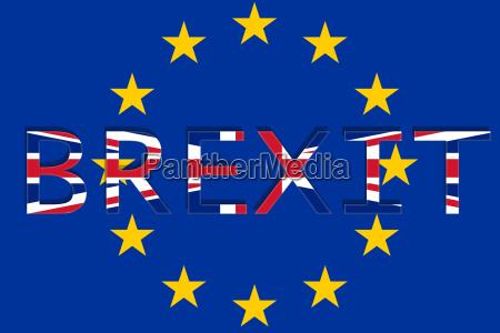 grossbritannien mit brexit auf europa union