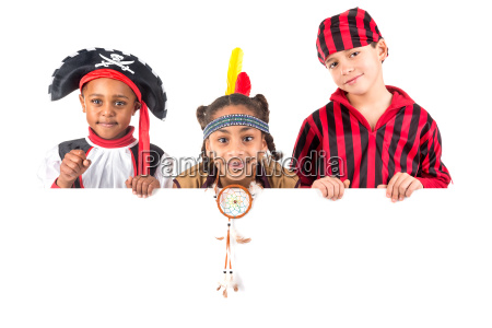 kids with costumes