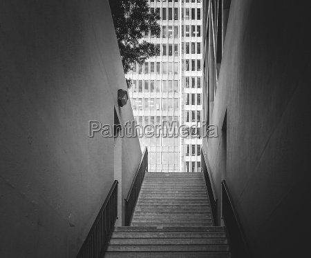 stairs and skyscraper