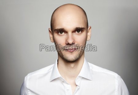 young man in white shirt