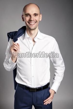 smiling confident man