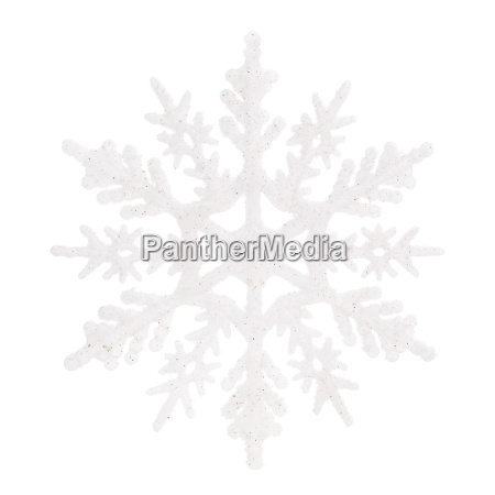 christmas decoration white snowflake isolated