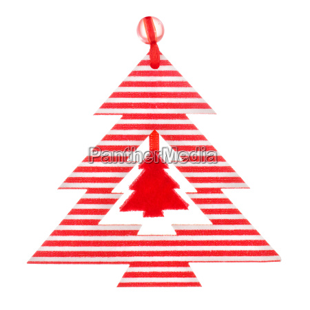 christmas decoration striped wood tree on