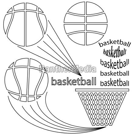 set of sport basketball icons on
