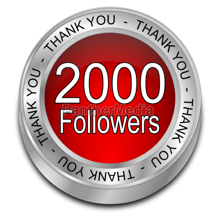 red 2000 followers thank you