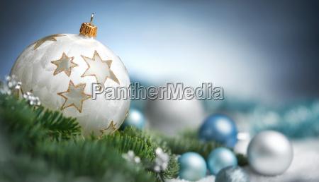 weihnachtskugeln, arrangement, in, nahaufnahme, , mit, textfreiraum - 19608297
