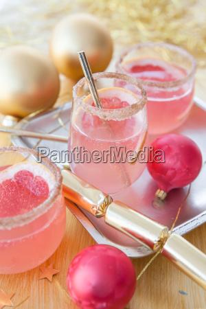 rosa cocktail zu weihnachten