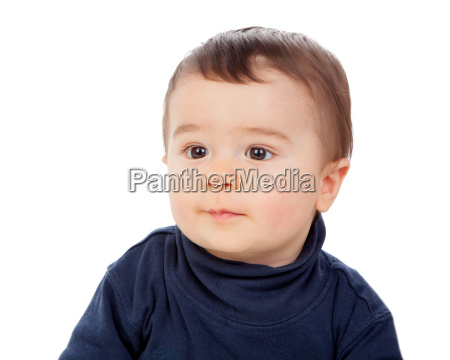 adorable baby with brawn eyes