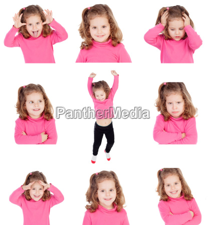 sequence of images of a pretty