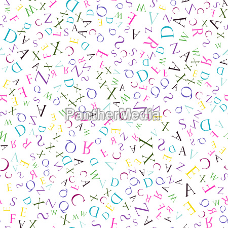 seamless pattern english alphabet