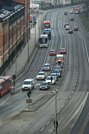 traffic on a city road