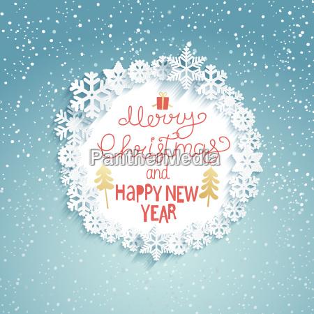 weihnachten und neujahr grusskarte vektor