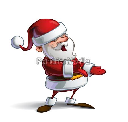 happy santa presenting to you