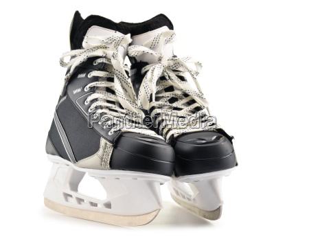 pair of ice hockey skates isolated