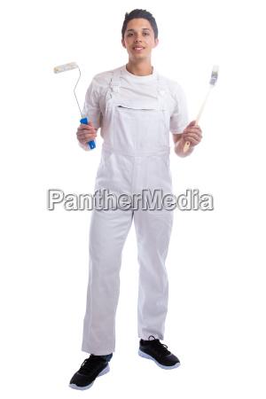 maler beruf handwerker lehrling azubi ganzkoerper