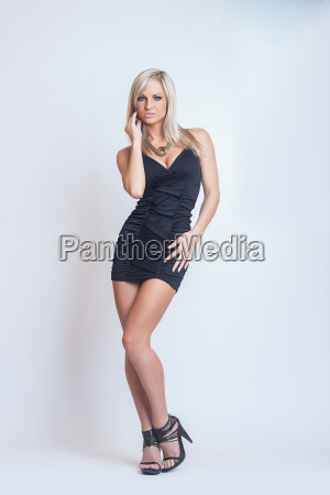 fashion sexy attractive blond girl in