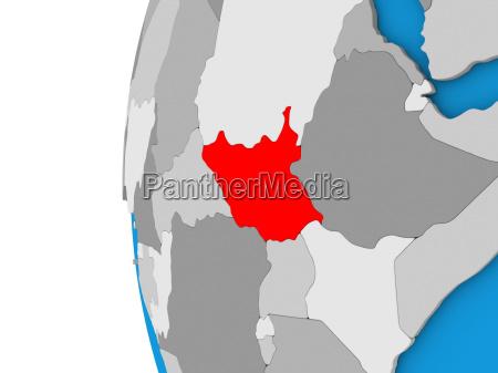 suedsudan auf der welt