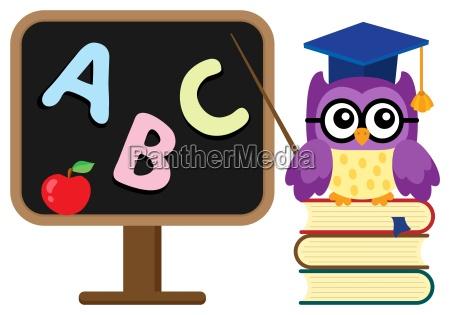 stylized school owl theme image 1